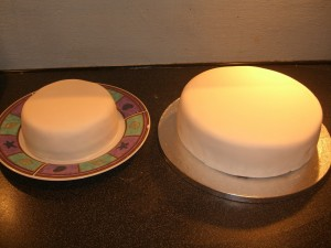 Fondant covered cakes